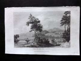 Gallery of Nature 1818 Antique Print. View on the Lake Ladoga, Russia